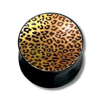 Oreille Plug, Piercing, bijoux de corps, Leopard   6 - 16 mm