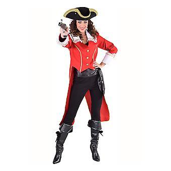 Vrouwen kostuums piraat jas dames