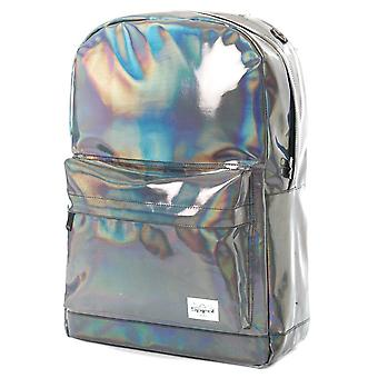 Spiral Silver Rave Backpack in Silver