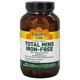 Country Life Target Total Mins-Iron Free 120 Ct