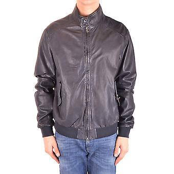 Altea Ezbc048117 Men's Black Leather Outerwear Jacket