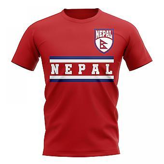 Nepal Kern Fußball Land T-Shirt (rot)
