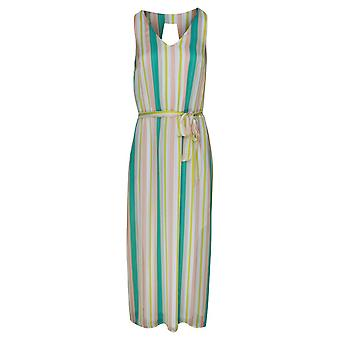 Marie Mero Candy Stripe Sleeveless Sheer Maxi Dress