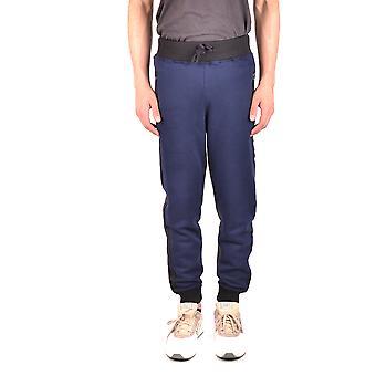 Hydrogen Ezbc186007 Men's Blue/grey Cotton Pants