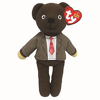 """Mr. Bean 8"""" Teddy Bear Beanie with Shirt and Tie"""