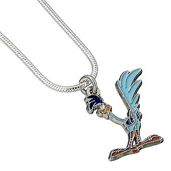 Looney Tunes Silver Plated Road Runner Character Necklace
