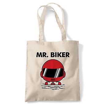 Mr Biker Funny Tote - Reusable Shopping Canvas Bag Gift