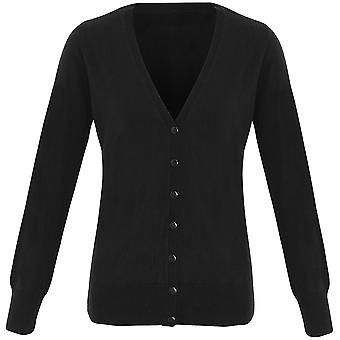 Premier Womens Essential Acryl V Neck Button Down Cardigan