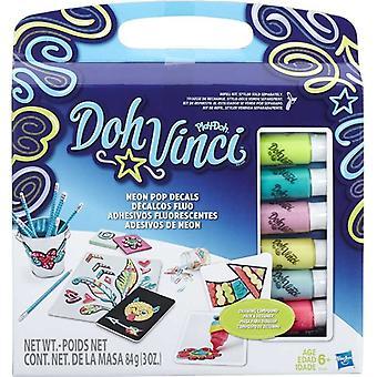 Play-Doh DohVinci Neon Pop Decals Refill Kit