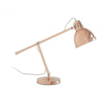 Premier Home Jasper Table Lamp - EU Plug, Metal, Copper