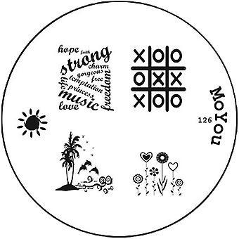 MoYou Runde Stamping Nail Art Bildplatte - 126