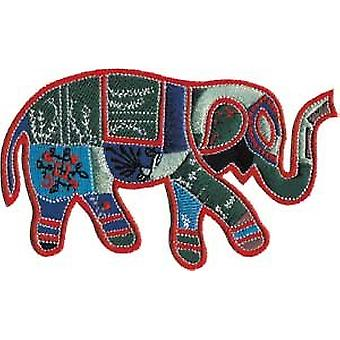 Patch - Animals - Patchwork Elephant Iron On Gifts New Licensed p-3771