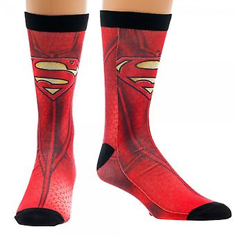 Crew Sock - Superman Character Sublimated New Licensed cr2e7gspm
