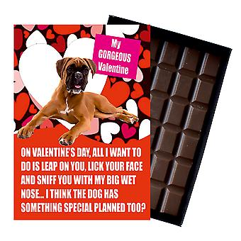 Boxer Dog Gift for Valentines Day Presents For Dog Lovers Boxed Chocolate