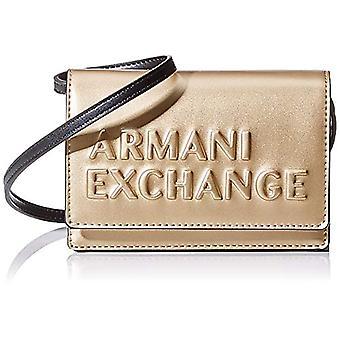ARMANI EXCHANGE Kabartmalı Logo Crossbody Çanta - Kadın Altın (Altın) 10x10x10 cm (W x H L)