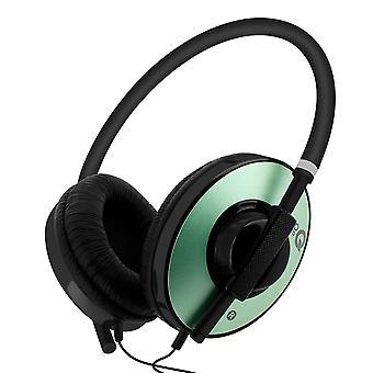 Wired Headset Office Automation Computer Integrated Microphone green