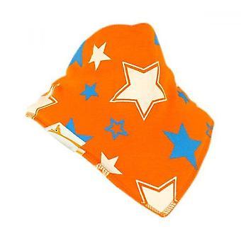 Orange, blue & white stars bandana bib