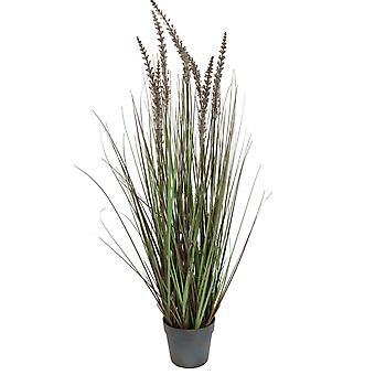 Decoratie gras in pot met rockers H110 cm