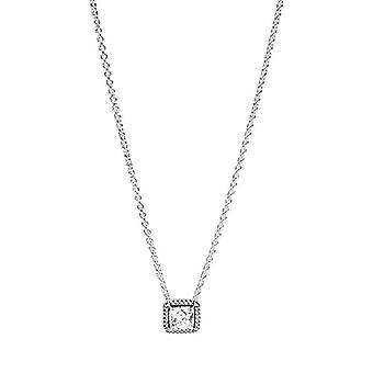 Pandora Necklace with Silver Woman Pendant - 396241CZ-45