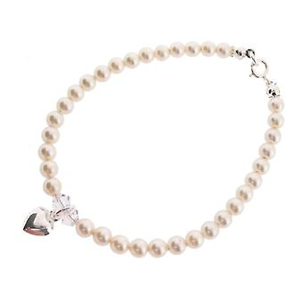 Chic A Boo Baby Silver 925/1000 White Synthetic Pearl FINENECKLACEBRACELETANKLET