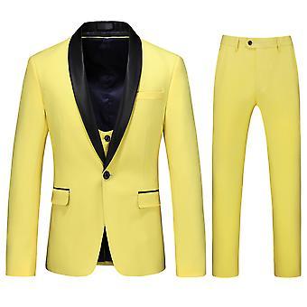 Alle Themen Men's Tuxedos Anzug 3-stücke Business Casual Blazer & Weste &Hose