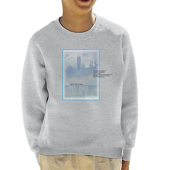 A.P.O.H Oscar Claude Monet Painting Quote Kid's Sweatshirt