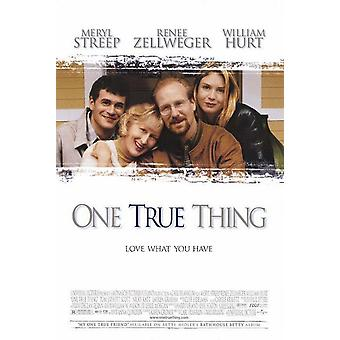 Yksi todellinen asia (1998) alkuperäinen elokuva juliste