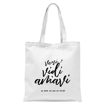 We Came. We Saw. We Loved. Tote Bag - White