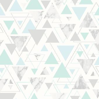 Chantilly Geometric Marble Triangle Wallpaper Debon