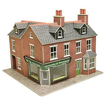 Metcalfe Po263 Oo Gauge rotem Backstein Tante-Emma-Laden