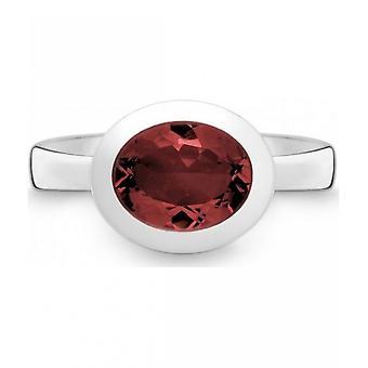 QUINN - Ring - Women - Silver 925 - Gemstone - Garnet - Width 56 - 21402663