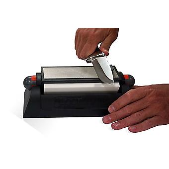 AccuSharp DELUXE Tri-Stone System, Three Stone Surfaces, Rubber Grip #025C