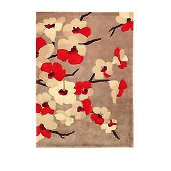 Infinite Blossom Rug - Rectangular - Red