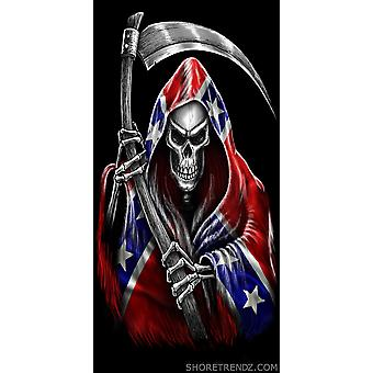 Rebel Flag Beach Towel Grim Reaper with Scythe Confederate Southern Dixie Pride 30