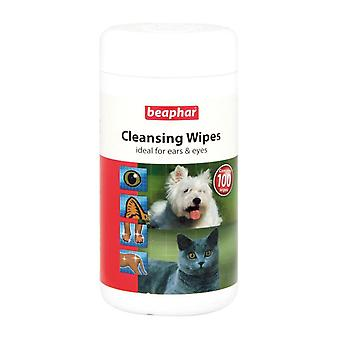 Beaphar Cleansing Wipes for Ears and Eyes, 100 Wipes