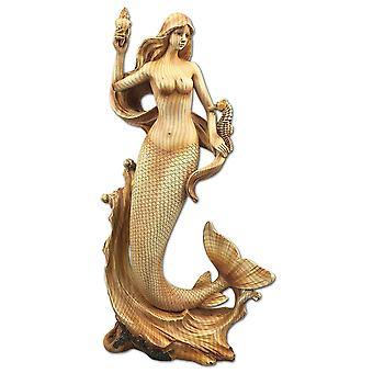 Sieben Meere Meerjungfrau und Seepferdchen Harz Plaque