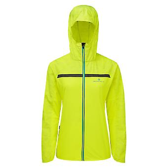 Ronhill Momentum Afterlight Womens Wind & Water Resistant Running Jacket Midnight Fluo Yellow/reflect