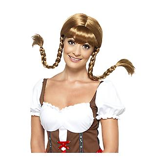 Adult Bavarian Babe Brown Wig