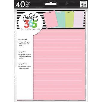 Happy Planner Medium Fill Paper 40/Pkg-Colored