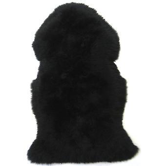 Tapis en peau de mouton noir Jet Snugrugs