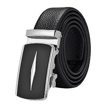 Allthemen Man High-grade Business Casual Automatic-buckle Full-grain Leather Belt