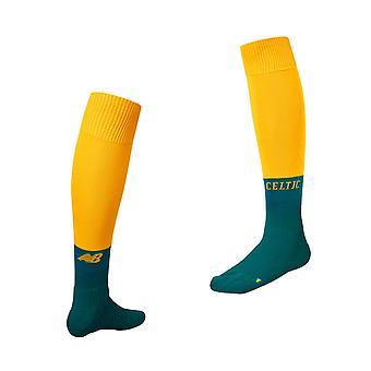 New Balance Celtic FC 2019/20 Away Football Socks Yellow/Green