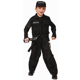 S.W.A.T. SWAT Military Policeman Cop Police FBI Book Week Boys Costume