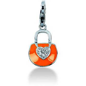 Charm sten Lawson JC99A114 - berlock hänge fodral Orange kvinna