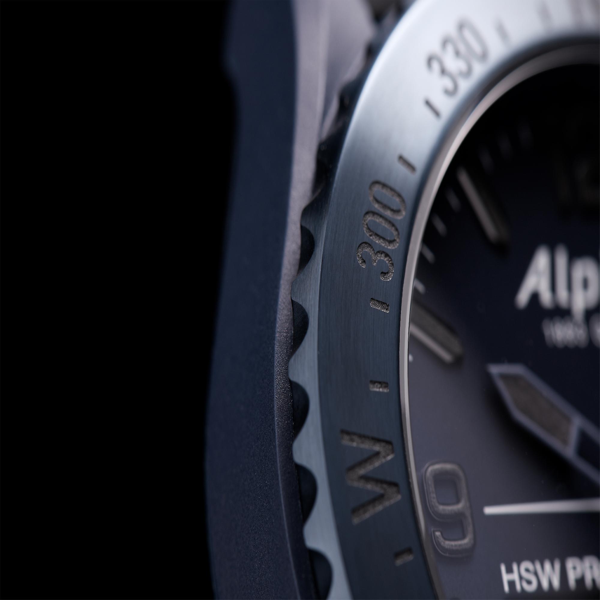 Alpina Limited Edition AlpinerX Space Quartz Blue Dial Leather Strap Mens Watch AL-283SEN5NAQ6