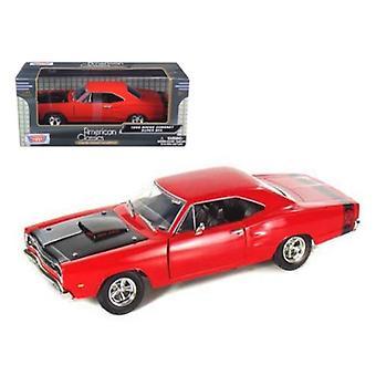 1969 Dodge Coronet Super Bee Red 1/24 Diecast Model Car Par Motormax