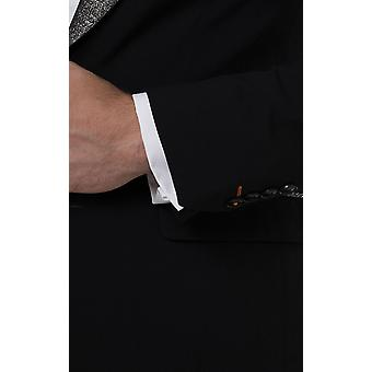 Avail London Mens Black Tuxedo Jacket Skinny Fit Contrast Shimmer Lapel