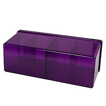 Dragon Shield Storage Box w. 4 compartiments - Purple