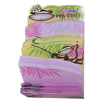 Jeli Deli Miss Cheeky Notepad 80 Sheets