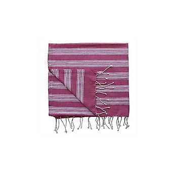 Keira Stripe Beach Throw Light Pink